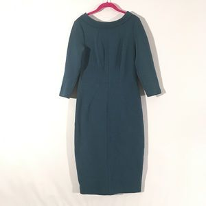 Anthropologie Blue Biden Sheath Collar Dress 8